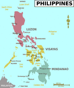 map of the philippines islands
